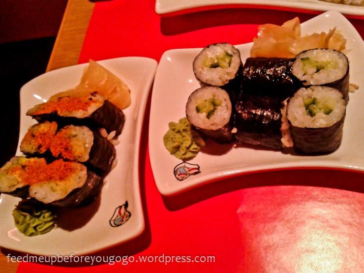Vegetarisches Sushi in der Bento Box München