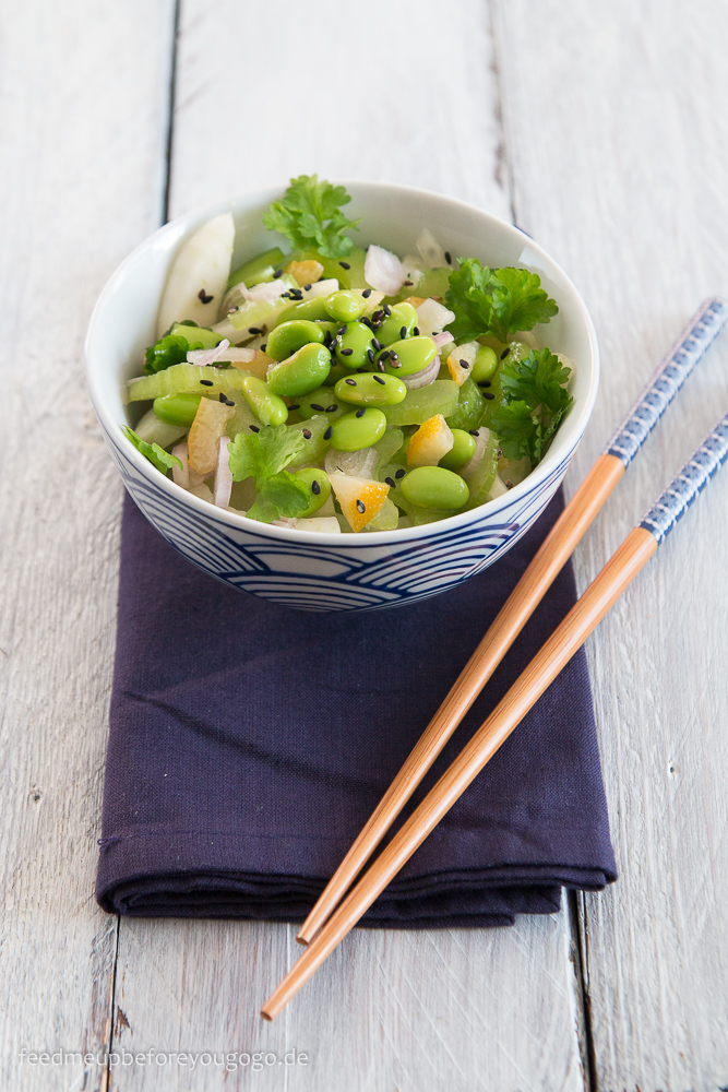 Edamame-Fenchel-Salat mit Sellerie und kandierten Zitronen Rezept Feed me up before you go-go-1