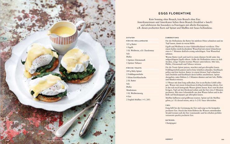 Eggs Florentine Innenseite aus USA vegetarisch © Ulrike Holsten/Brandstätter Verlag