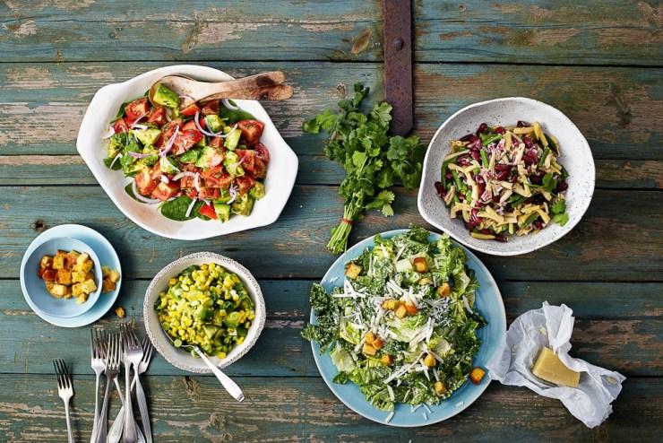 Salate aus USA vegetarisch © Ulrike Holsten/Brandstätter Verlag
