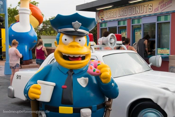 Chief Wiggum Simpsons Universal Studios Orlando