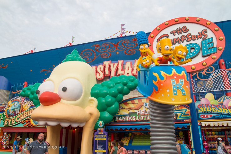 Simpsons Ride Krustyland Universal Studios Orlando