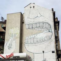 Serbien Belgrad Graffiti