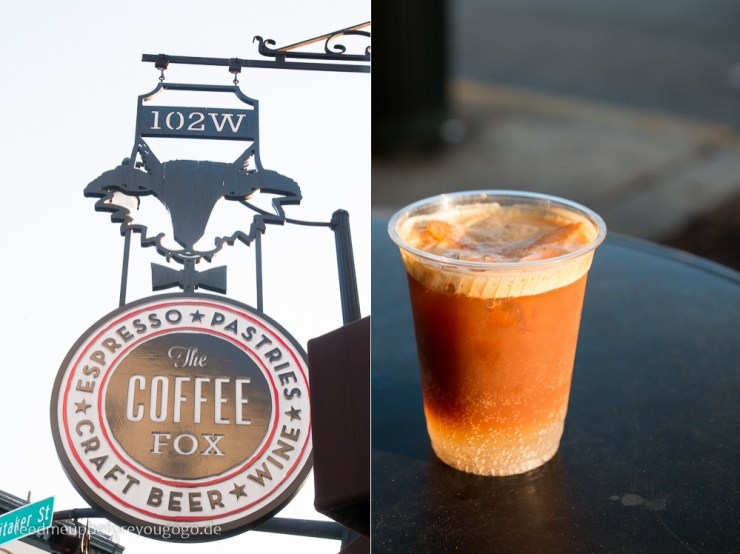 Coffee Fox Espresso Tonic Savannah kulinarisch Food Guide