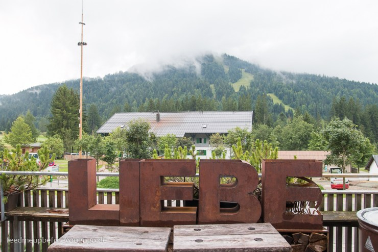 Terrasse Liebe Hubertus Alpin Lodge & Spa Balderschwang Allgäu