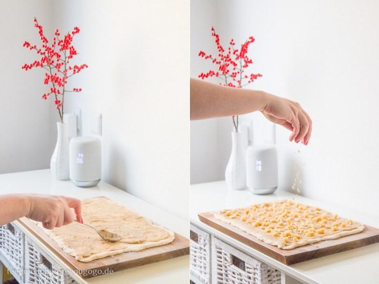 Kardamomschnecken mit Mandeln und Marzipan Rezept Anleitung