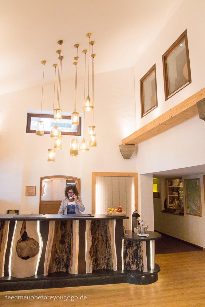 Berghotel Rehlegg Ramsau Lobby Winter und Wellness im Berchtesgadener Land