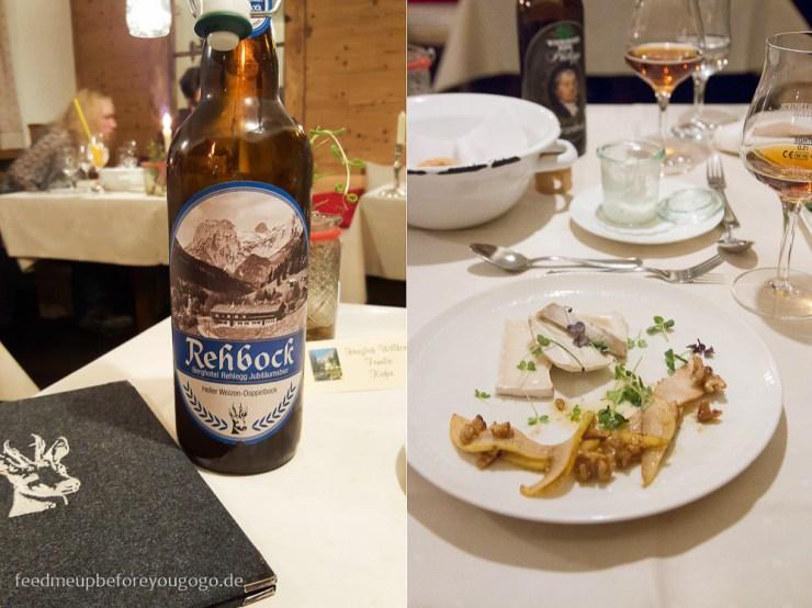 Berghotel Rehlegg Ramsau Rehbock-Bier Menü Restaurant Almstüberl Winter und Wellness im Berchtesgadener Land