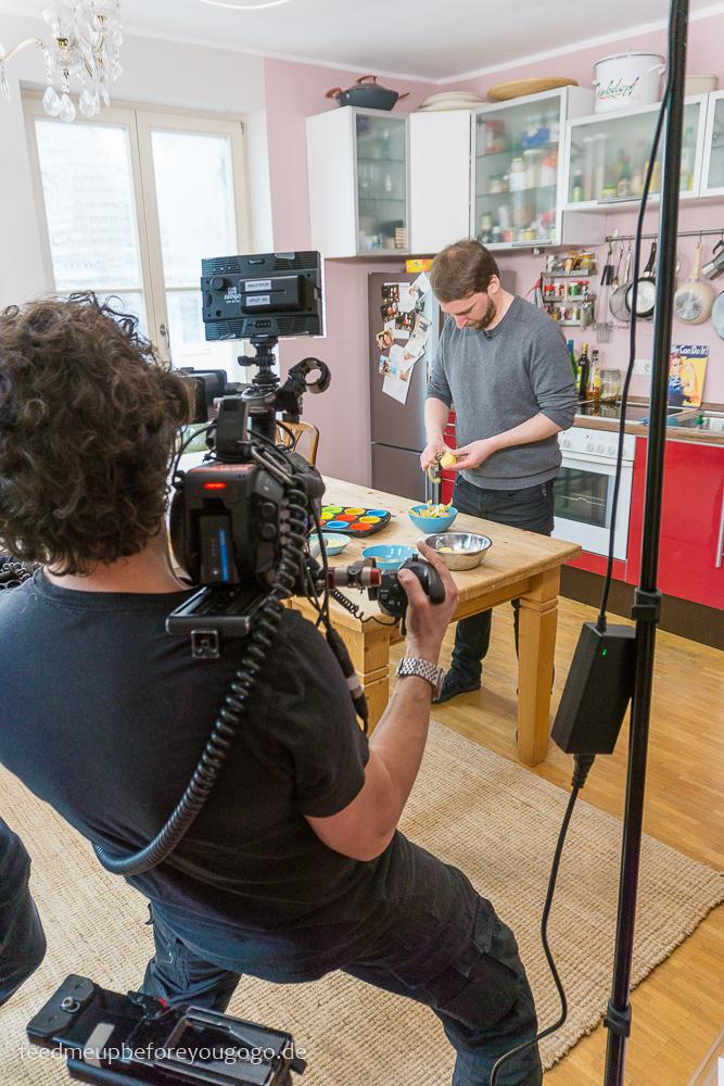 Dreh mit Kameramann für ZDF Drehscheibe Küchenträume
