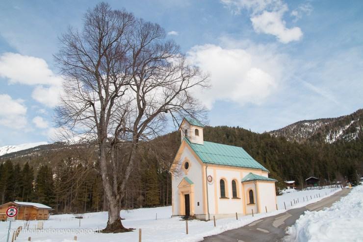 Seehofkapelle Achensee Tirol im Winter