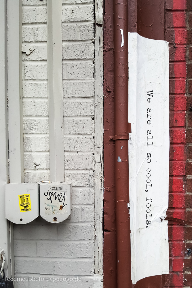 Williamsburg We are all so cool fools Street Art Brooklyn New York