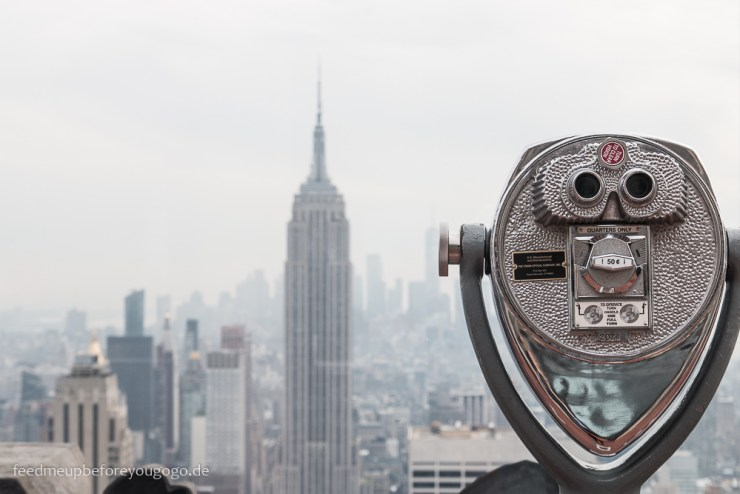 Blick von Top of the Rock aufs Empire State Building New York