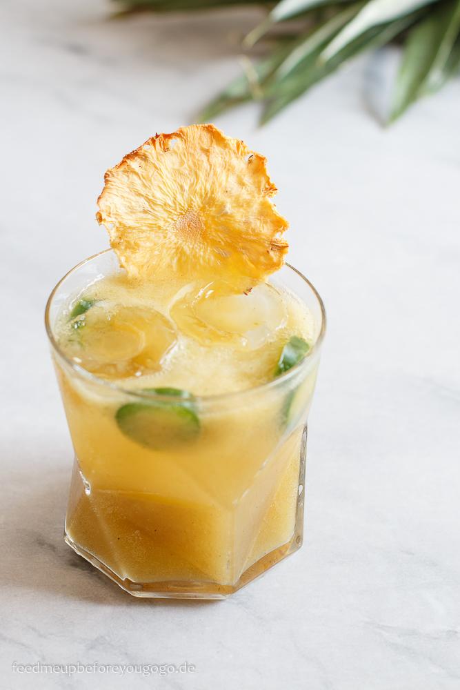 Margarita mit gegrillter Ananas und Jalapeño
