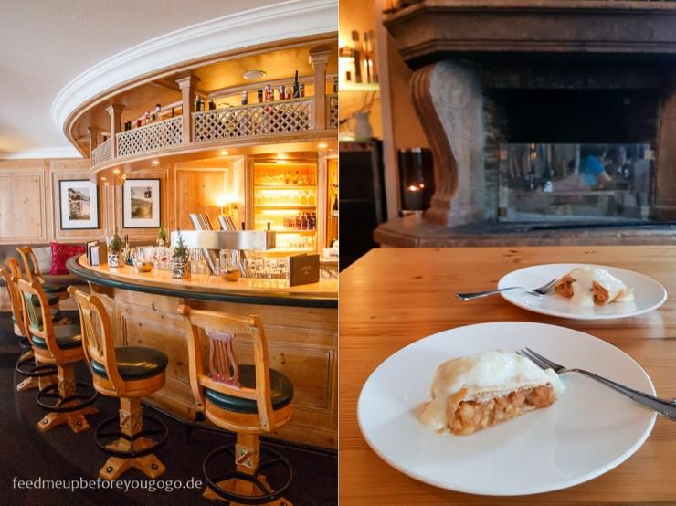 Hotel Staudacherhof Garmisch-Partenkirchen Apfelstrudel im Kaminzimmer