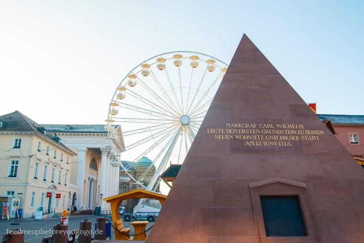 Reisetipps Karlsruhe Marktplatz Pyramide