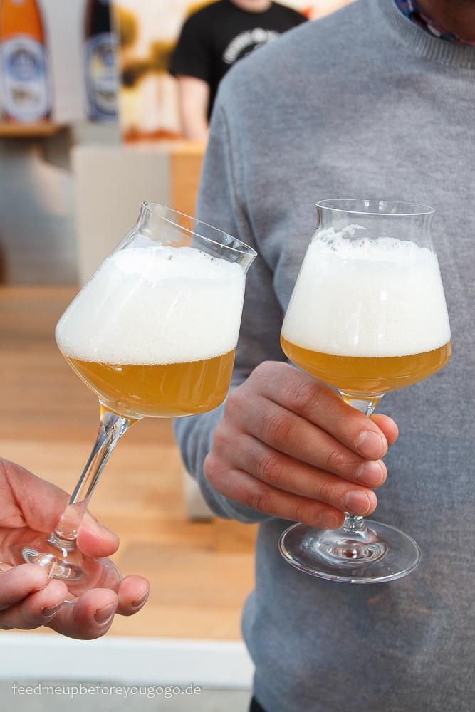Craft Beer im Glas auf der Braukunst Live