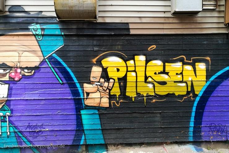 Pilsen Graffiti Street Art Chicago kulinarische Tipps Food Guide
