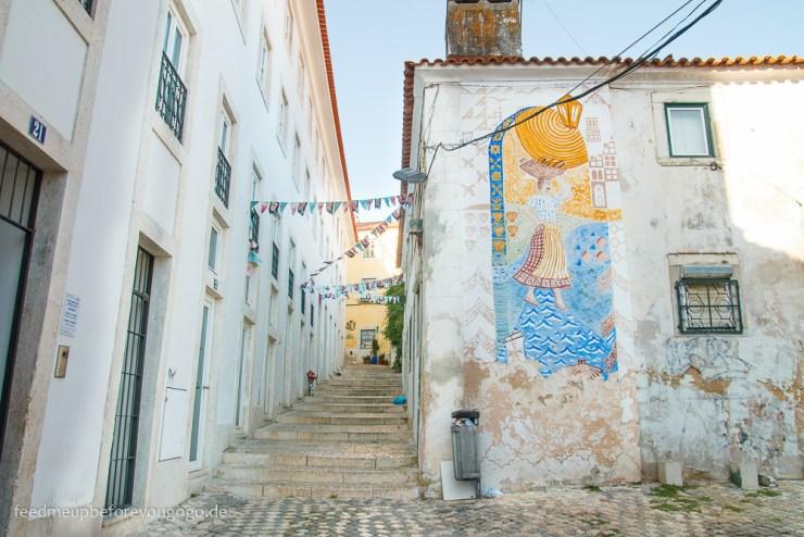 Gassen in Alfama Lissabon kulinarische Tipps