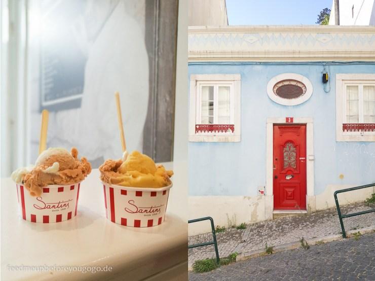 Lissabon Santini Eis kulinarische Tipps