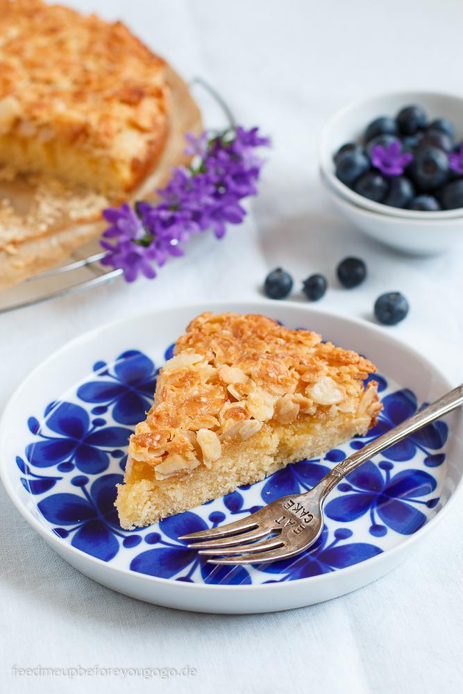 Toscakaka - schwedischer Mandel-Karamell-Kuchen Rezept