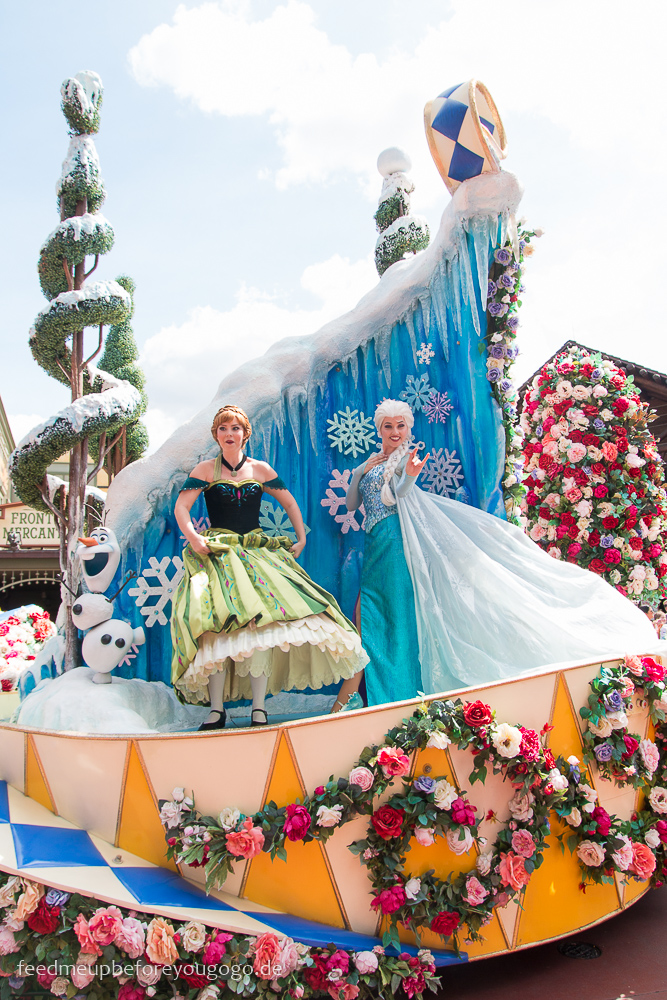 Frozen Elsa bei Parade im Magic Kingdom Walt Disney World Orlando Florida