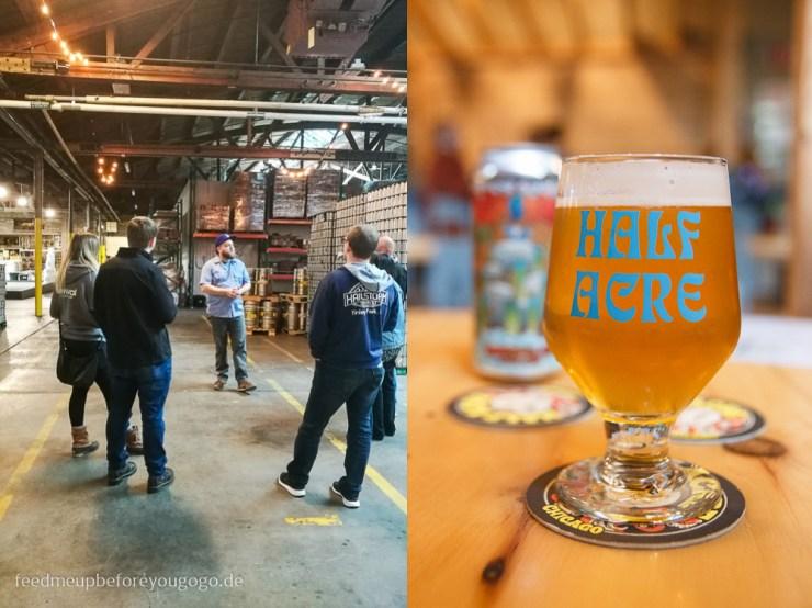 Brauereiführung Half Acre Craft Beer in Chicago