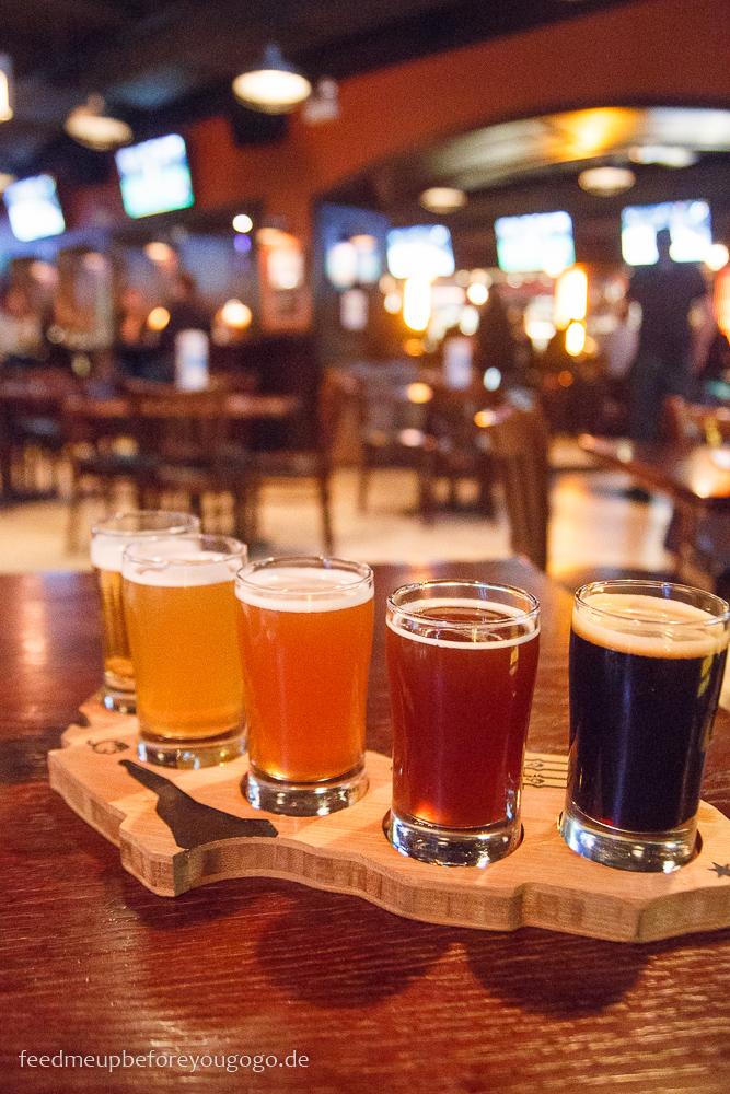 Tasting Flight Haymarket Brewing Craft Beer in Chicago