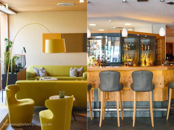 Lounge und Bar im Naturhotel Waldklause im Ötztal, Tirol