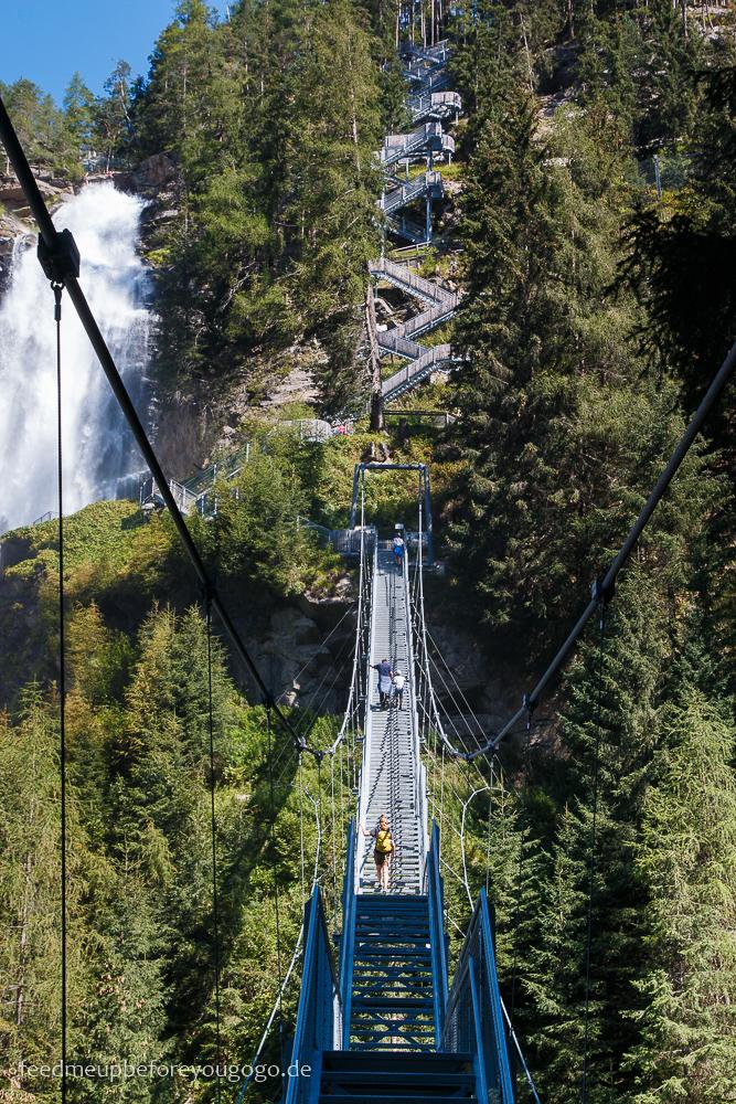 Stuibenfall Wasserfall mit Hängetreppe im Ötztal, Tirol
