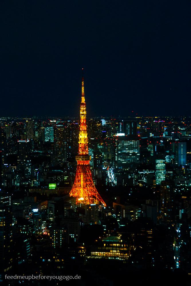 Tokyo Tower bei Nacht, Tokio Basics für die Reiseplanung. Tipps für Reise nach Japan