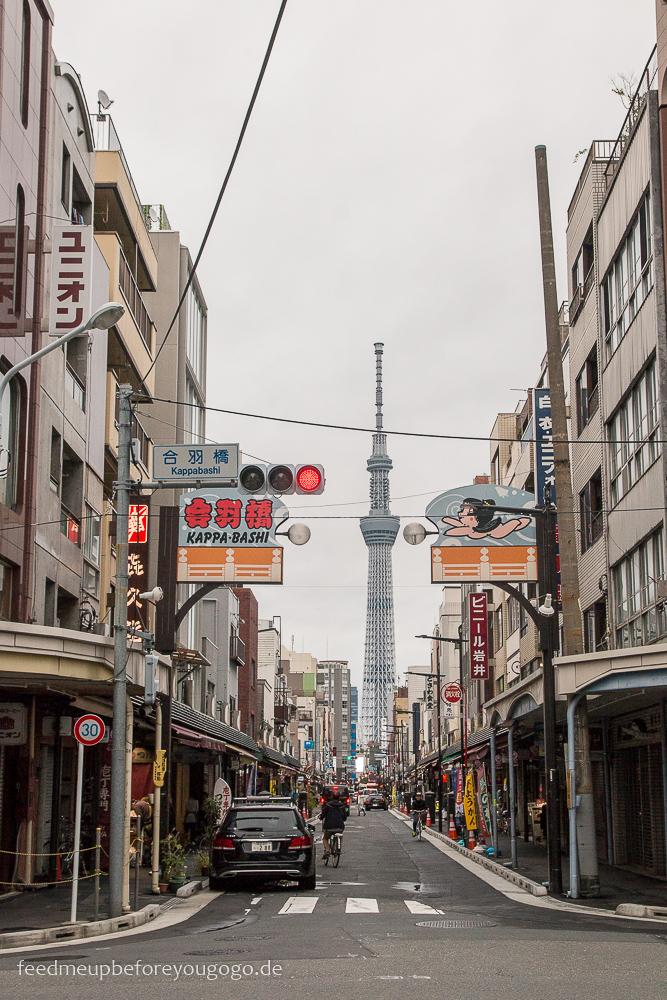 Kappa Bashi und Skytree Asakusa, Tokio Basics für die Reiseplanung. Tipps für Reise nach Japan