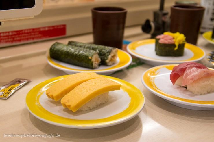 Tokio Reisetipps Genki Sushi Shibuya Conveyor Belt Sushi