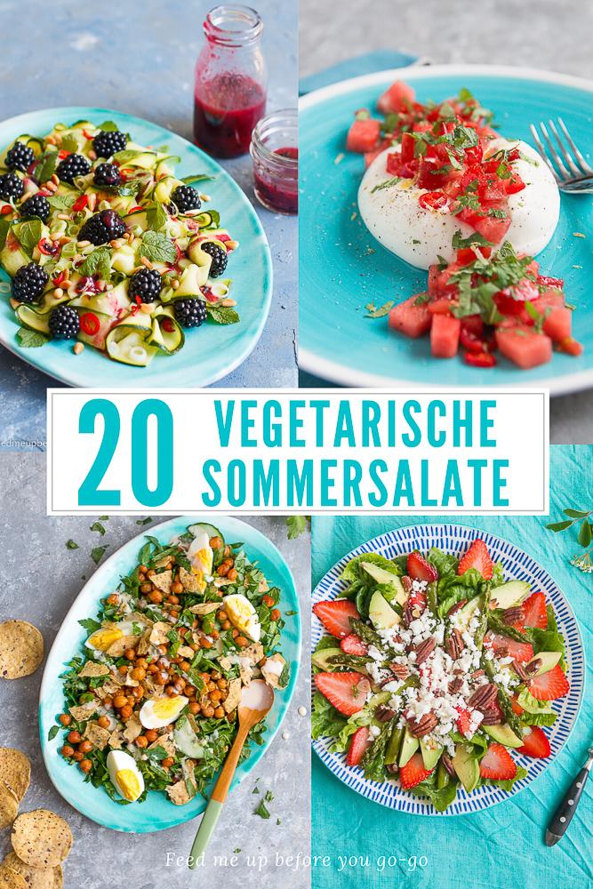 20 Rezepte für vegetarische Sommersalate - einfach, schnell und kreativ