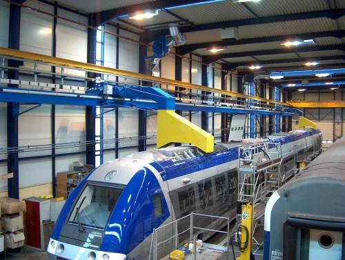 locomotive exhaust fumes extraction