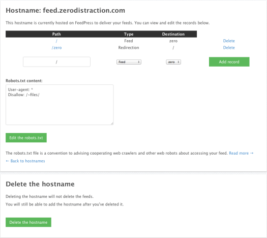 Customizable hostnames