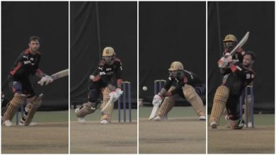 WATCH: Big Show's Big Reverse Sweeps On Chahal's Bowling, How Does Maxwell Do That?