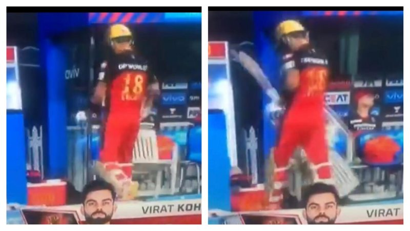 [WATCH] Angry Virat Kohli Smashes A Chair In Frustration As He Gets Out During SRH Vs RCB | Twitteratis Troll