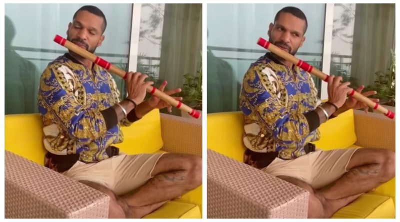 Dhawan Plays 'Hothon Se Choo Lo' Melody On His Flute, Musician Applauds [Watch Video]
