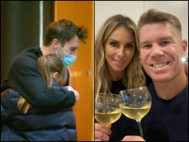 IN PICS   Heartwarming! Australian Players Finally Reunite With Family Post IPL 14 Suspension