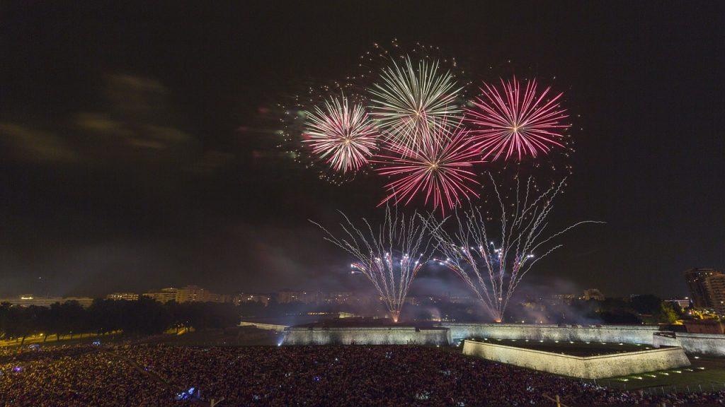 Pamplona's San Fermin fireworks