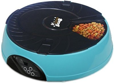 qpets 6 meal automatic pet feeder image