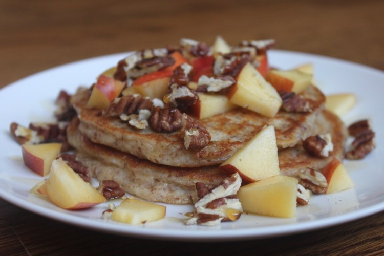 healthy whole grain protein pancakes