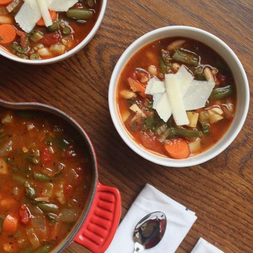 gluten-free minestrone recipe loaded with vegetables