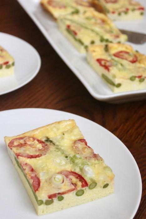 quick easy asparagus tomato frittata gluten-free