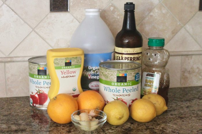 ingredients for healthy homemade barbecue sauce without refined sugar