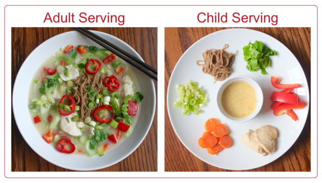 Plating food for kids why deconstructed meals work healthy meals for children deconstructed ginger coconut soup with soba noodles forumfinder Image collections