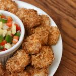 healthy popcorn shrimp recipe with whole wheat panko crumbs