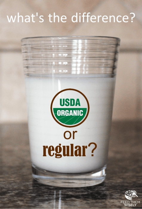 difference between organic and conventional milk