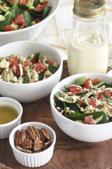 healthy salads contain fat to help absorb vitamins and other micronutrients