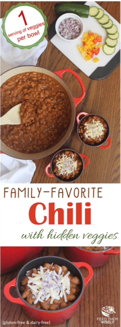 healthy family-favorite chili recipe with hidden vegetables